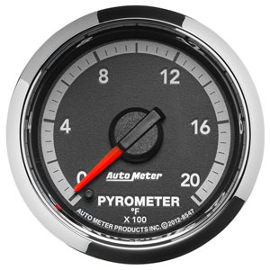 EXHAUST TEMPERATURE GAUGE (0-2000°) - AUTOMETER - 4TH GEN FACTORY MATCH