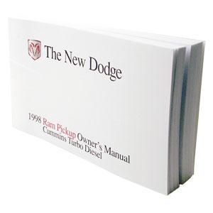 DODGE RAM OWNER'S MANUAL ('98, 2500/3500 - DIESEL)