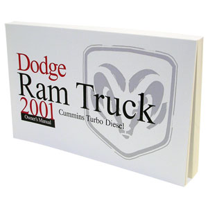 DODGE RAM OWNER'S MANUAL ('01, 2500/3500 - DIESEL)
