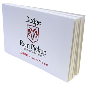 DODGE RAM OWNER'S MANUAL ('00, 2500/3500 - DIESEL)