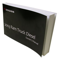 DODGE RAM OWNER'S MANUAL ('03, 2500/3500 - DIESEL)