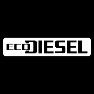 "DECAL - ECO DIESEL - WHITE (1-3/4"" X 8-3/4"")"