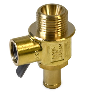 OIL DRAIN VALVE - FUMOTO FINGER TOUCH - 18MM WITH NIPPLE ('02-'18, 6.7L & 5.9L)