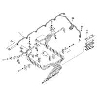 '94-'98, 12V Dodge Cummins Fuel Return Line Schematic