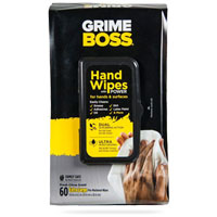 GRIME BOSS HAND WIPES - 60 COUNT