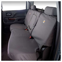 CARHARTT SEAT COVER - REAR - COVERCRAFT  ('11-'19,  CREW CAB - FULL BENCH W/ADJUSTABLE HEADRESTS AND CENTER BELT)