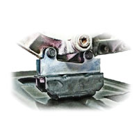 '03-'07 Dodge Ram 48RE 4WD Transfer Case Support Bracket Installed