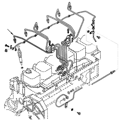 89 91 Dodge Cummins Diesel Fuel Injector Line 1