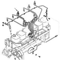 '89-'93 Dodge Cummins Diesel #3 Fuel Injector Line