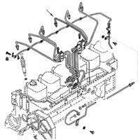 '89-'93 Dodge Cummins Diesel #4 Fuel Injector Line