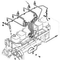 '89-'93 Dodge Cummins Diesel #5 Fuel Injector Line