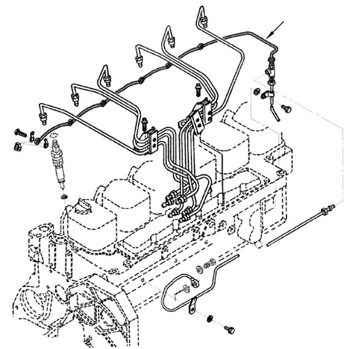 89 93 Dodge Cummins Diesel Fuel Injector Return Line