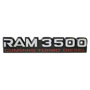 EMBLEM - RAM 3500 CTD ('94-'98, 12V)