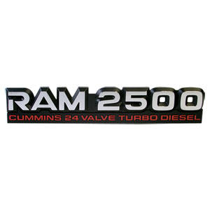 EMBLEM - RAM 2500 CTD ('98.5-'02, 24V)