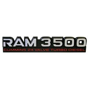 EMBLEM - RAM 3500 CTD ('98.5-'02, 24V)