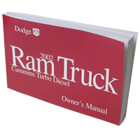 DODGE RAM OWNER'S MANUAL ('02, DIESEL ONLY)