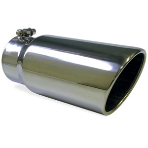 "EXHAUST TIP - ROLLED ANGLE CUT - POLISHED SS (4"" TO 5"")"