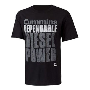 "T-SHIRT - ""CUMMINS DEPENDABLE DIESEL POWER"""