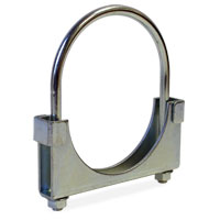 """EXHAUST PIPE CLAMP - HD ROUND BAND, DBL SADDLE (5"""" DIA)"""