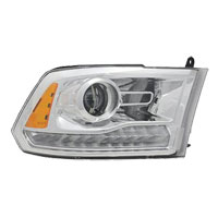 HEADLIGHT - HALOGEN PROJECTOR  W/CHROME BEZEL - PASSENGER SIDE ('13-'18)