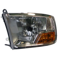 HEADLIGHT - W/O QUAD HEADLIGHTS - DRIVER SIDE - MOPAR ('10-'12, 2500/3500)