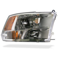 HEADLIGHT - W/QUAD LIGHTS - PASSENGER SIDE - MOPAR ('10-'12, 2500/3500)
