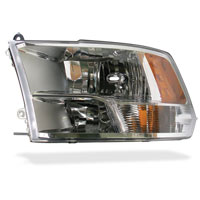 HEADLIGHT - W/QUAD LIGHTS - DRIVER SIDE - MOPAR  ('12-'18, 2500/3500)