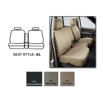 SEATSAVERS - FRONT - COVERCRAFT ('17-'18, 2500/3500, 40/20/40 ADJ HDRST/FOLD DOWN CONSOLE/FLOOR STORAGE/AIRBAGS)