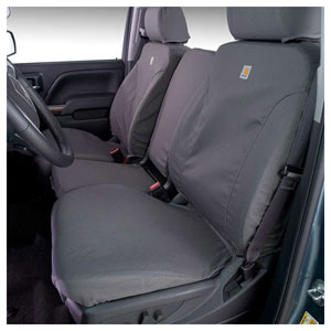 CARHARTT SEATSAVERS - FRONT - COVERCRAFT ('14-'17, 40/20/40 ADJ HDRST/FOLD DOWN CONSOLE/AIRBAGS