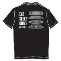 T-SHIRT - EAT, SLEEP AND DRIVE