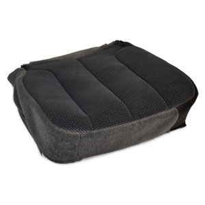 OEM FABRIC BOTTOM SEAT COVER - DARK SLATE -DRIVER SIDE - MANUAL ADJ. ('03-'05, 2500/3500 ALL CABS, SLT)