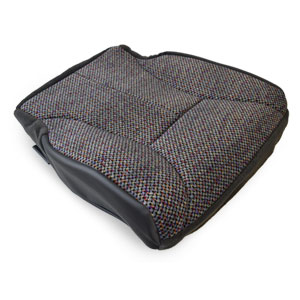 OEM FABRIC BOTTOM SEAT COVER - DARK GREY/AGATE - DRIVER SIDE ('98-'02, 2500/3500 QUAD CAB SLT)