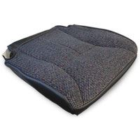 OEM FABRIC BOTTOM SEAT COVER - DARK GREY/AGATE - PASSENGER SIDE ('98-'02, 2500/3500 QUAD CAB SLT)