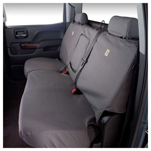 CARHARTT SEAT COVER - REAR - COVERCRAFT ('06-'07 & '10-'18, MEGA CAB) 60/40 W/HEADRESTS
