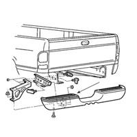Dodge Ram Passenger Side Rear Bumper Step Pad - 55034460