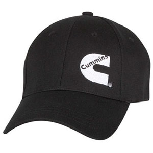 "BALL CAP - CUMMINS BASIC FITTED ""CUMMINS C"" CAP (BLACK)"