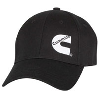 "BALL CAP - CUMMINS BASIC FITTED ""CUMMINS C"" CAP (BLACK)"