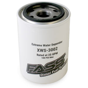 WATER SEPARATOR - FASS FUEL SYTEMS - XWS-3002