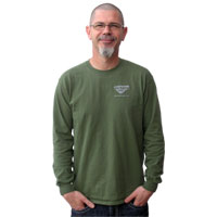 "T-SHIRT, ""I WAS NORMAL FOUR GENERATIONS AGO"" (LONG SLEEVE, GREEN/SILVER)"