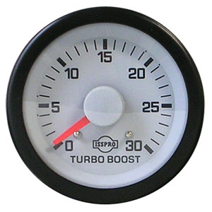 BOOST GAUGE, 30PSI (MECHANICAL) - ISSPRO EV²