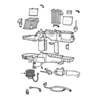 Mopar Heater Blower Motor Assembly