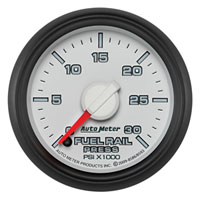 FUEL RAIL PRESSURE GAUGE, 30,000PSI - AUTOMETER - 3RD GEN FACTORY MATCH ('03-'07, 5.9L)