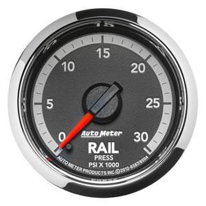 FUEL RAIL PRESSURE GAUGE,  30,000PSI - AUTOMETER - 4TH GEN FACTORY MATCH ('03-'07, 5.9L)