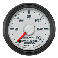 FUEL RAIL PRESSURE GAUGE, 30,000PSI - AUTOMETER - 3RD GEN FACTORY MATCH ('07.5-'09, 6.7L)