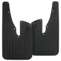 SPLASH GUARDS - MOPAR - HEAVY DUTY RUBBER- FRONT ('19, 2500/3500 W/O FLARES)