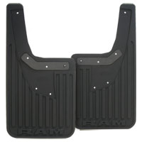 SPLASH GUARDS - MOPAR - HEAVY DUTY RUBBER - REAR ('19, 2500/3500 SRW, W/O OEM FLARES)