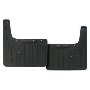 SPLASH GUARDS - MOPAR - HEAVY DUTY RUBBER - REAR ('19, 2500/3500 DRW, W/OUT OEM FLARES)