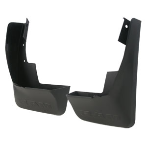 SPLASH GUARDS - MOPAR - REAR DELUXE MOLDED PLASTIC ('19-'20, 1500 W/O FENDER FLARES / NOT CLASSIC MODEL)