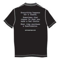 T-SHIRT, EVERYTHING HAPPENS FOR A REASON (BLACK, X-LARGE)