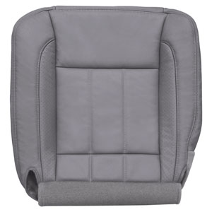FACTORY-MATCH BOTTOM SEAT COVER (MEDIUM SLATE) - LEATHER/VINYL - DRIVER SIDE BUCKET & 40/20/40 ('06-'09, LARAMIE 2500/3500, ALL CABS)